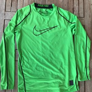 Boys Nike Pro Dri-fit fitted long sleeve shirt